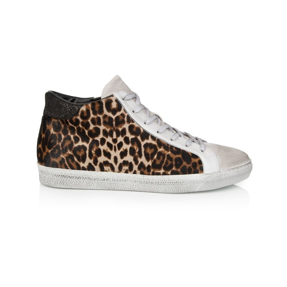 a3885aae728c Air & Grace Air & Grace Alto Leopard Print Leather High Top Trainers