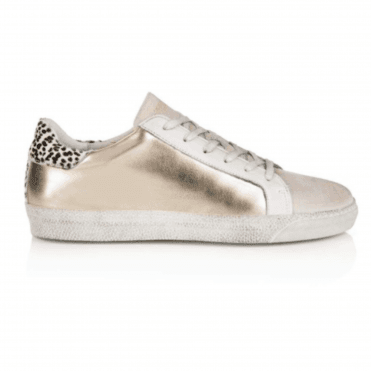 061a4a871452 Air & Grace Air & Grace Cru Metallic Trainer - Gold and Dotty