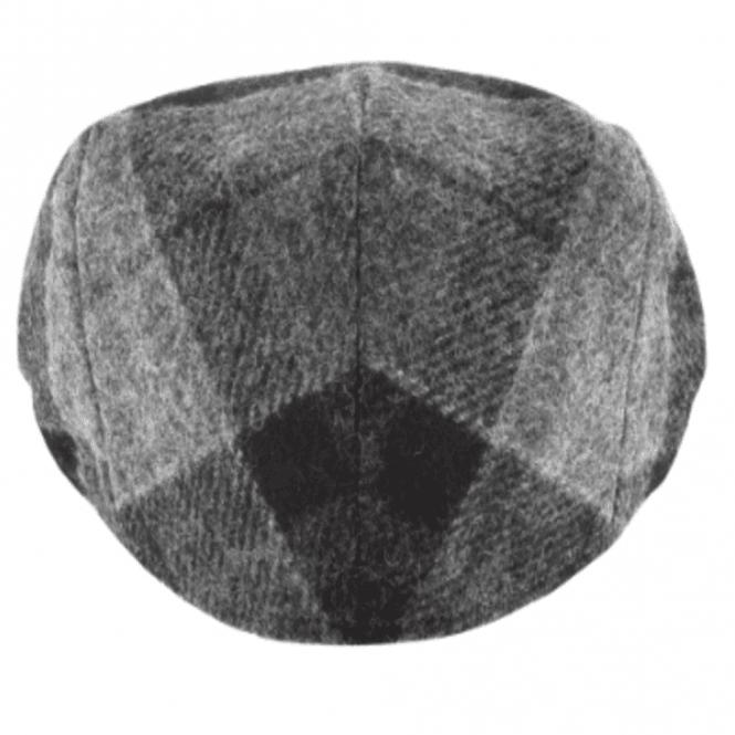 6c84a54d Barbour Moons Tweed Cap in Black/Grey Tartan .mha0295