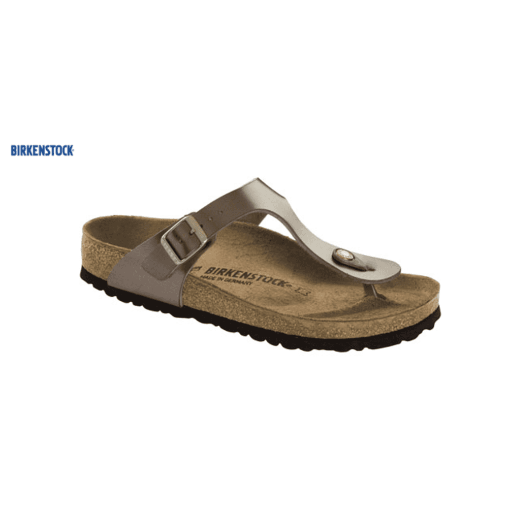 65690cf2e76 Birkenstock Birkenstock Gizeh Birko-Flor Sandal in Metallic Taupe