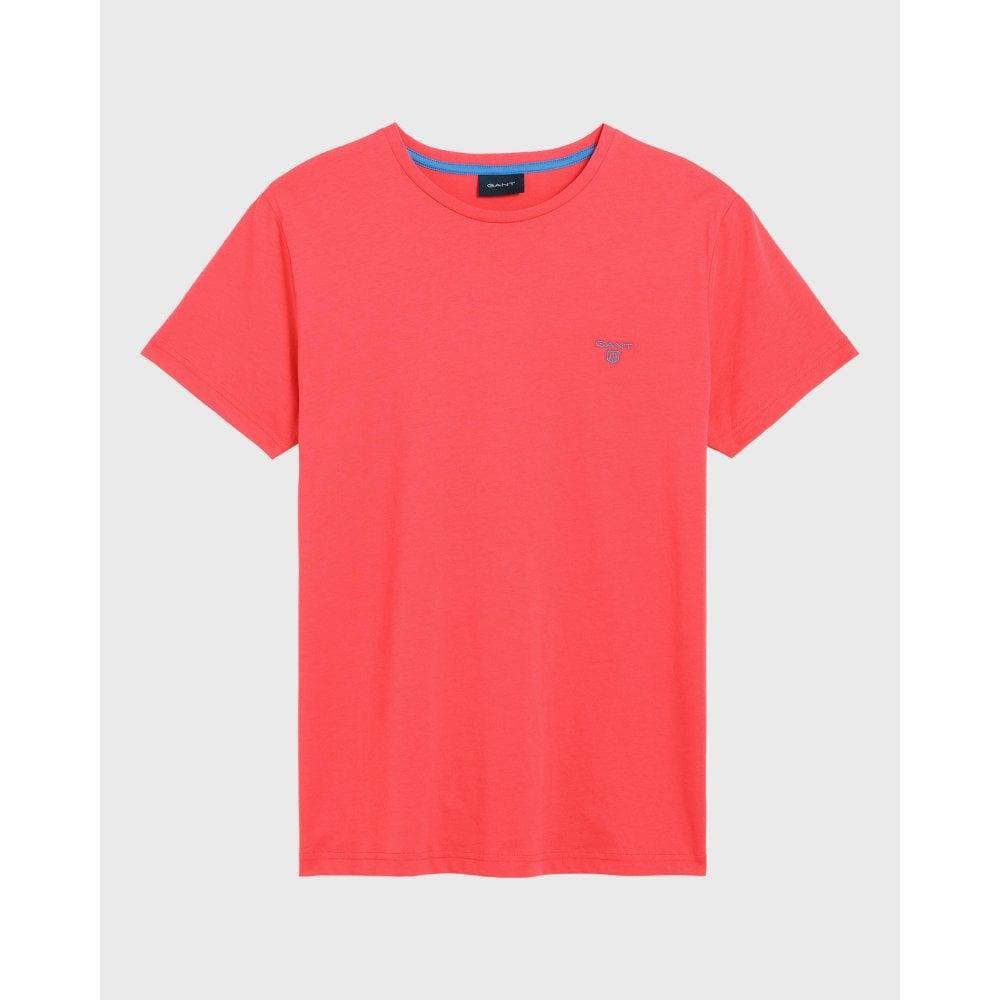 4c3e491fde4 Gant mens contrast logo T shirt 254111 - Mens from Real Clothing UK