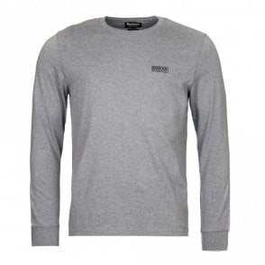 Barbour International Long-Sleeved Logo T-shirt in Grey .mts0342