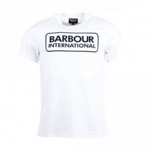 Barbour International Graphic Short-Sleeved T-shirt in White .mts0369