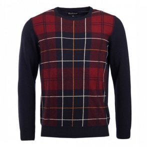 Barbour Coldwater Crew Neck Jumper in Navy .mkn1121