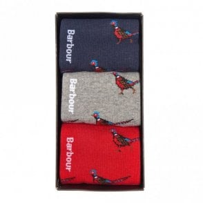 Barbour Pheasant Sock Gift Box Set .mac0191