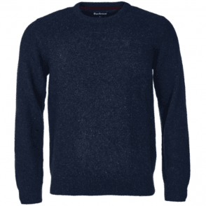 Barbour Tisbury Crew Neck Sweater in Navy .mkn0844