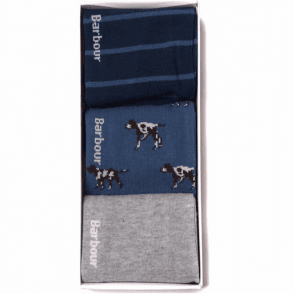 Barbour Mens Pointer Sock Gift Set .mac0223