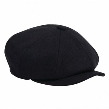 Barbour Melton Bakerboy Hat in Navy .mha0491