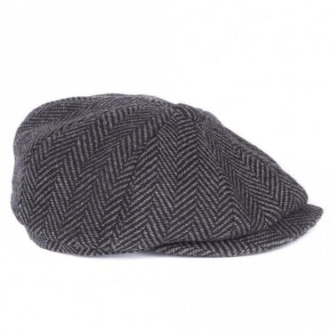 Barbour Flat Cap in Grey Tweed .mha0492