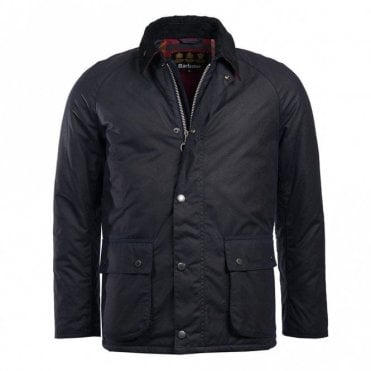Barbour Strathyre Waxed Cotton Jacket in Navy .mwx1406