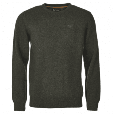 Barbour Tisbury Crew Neck Sweater in Green .mkn0844