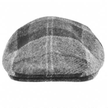 Barbour Moons Tweed Cap in Black/Grey Tartan .mha0295
