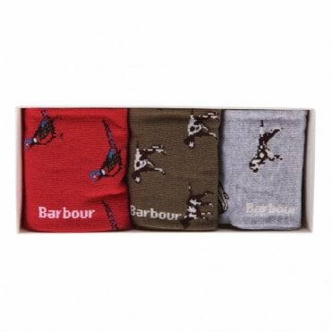 Barbour Animal Mix Sock Gift Set .mac0247